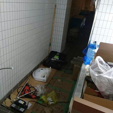 東京都港区 某とんかつ屋 給排水設備工事の施工後写真(0枚目)
