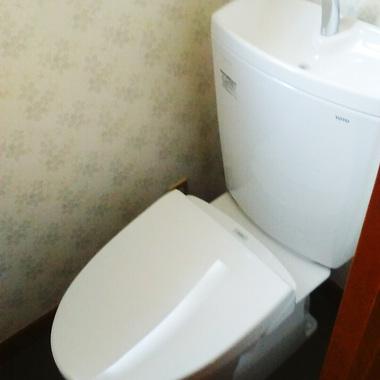 青色の古いトイレ・・、綺麗な白色トイレへ!の施工後写真(0枚目)