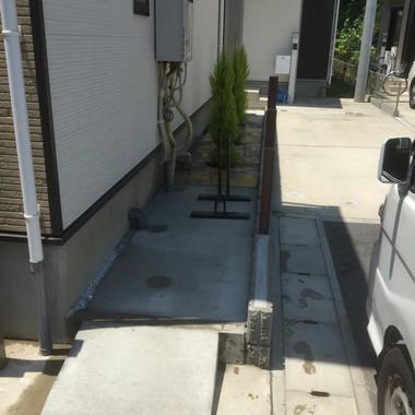 デットスペースを【駐輪場】として有効活用の施工後写真(1枚目)