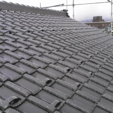 施工後の屋根瓦