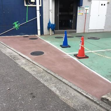 駐車場入口コンクリート補修の施工後写真(0枚目)
