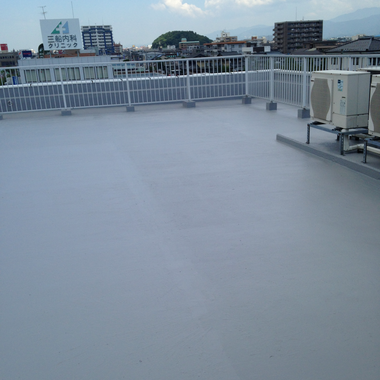 RF防水工事後の屋上