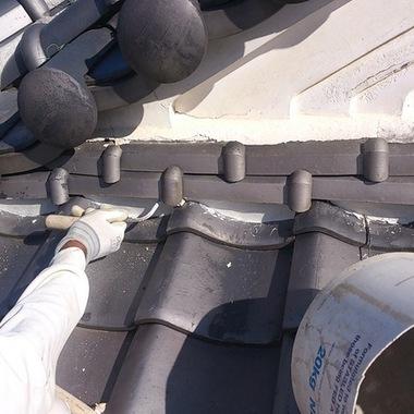 屋根漆喰工事の施工後写真(0枚目)