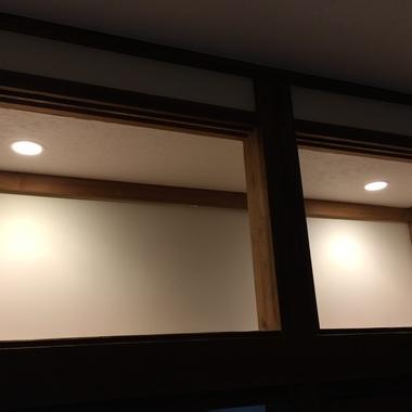 天袋にダウンライトを新規取付・配線工事の施工後写真(0枚目)