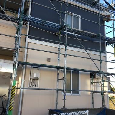 アパートの外壁塗装工事4棟の施工後写真(1枚目)