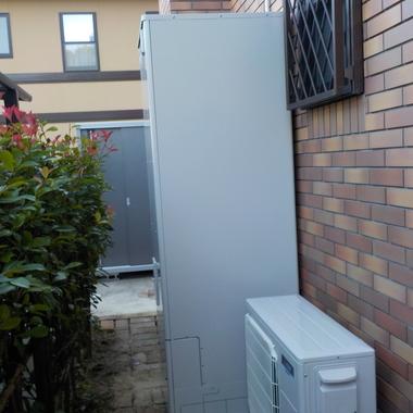 光熱費削減は給湯器にあり! ガス給湯器からエコキュートへ取替えの施工後写真(0枚目)