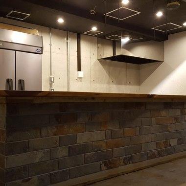 石調ベースアンティークスタイルの焼肉店の施工後写真(0枚目)