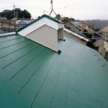 屋根、外壁塗装の施工後写真(1枚目)