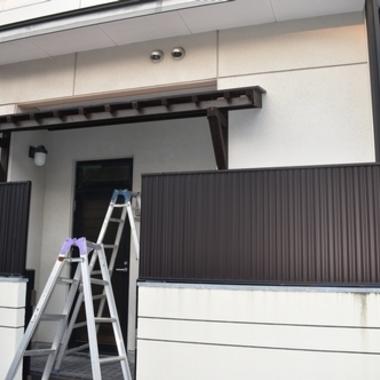 庇取り付け工事の施工後写真(0枚目)