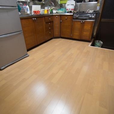 キッチン・フローリング貼りの施工後写真(0枚目)