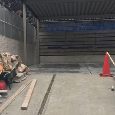 駐車場のコンクリート工事の施工後写真(0枚目)