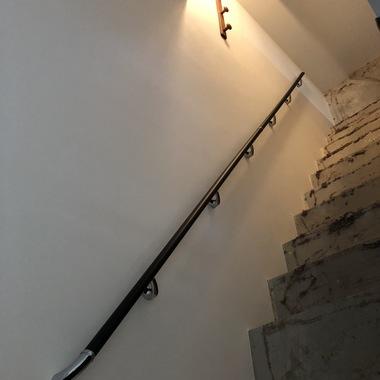 室内階段手摺! シンプルモダンな!の施工後写真(0枚目)