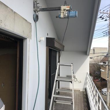 エアコン取付用の穴/コア抜き施工  RC造の施工後写真(0枚目)