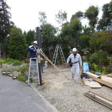 カーポート新設工事の施工後写真(2枚目)