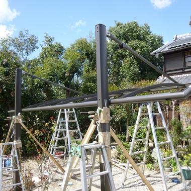 カーポート新設工事の施工後写真(3枚目)