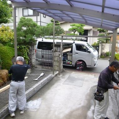 台風被害です。パート2の施工後写真(1枚目)