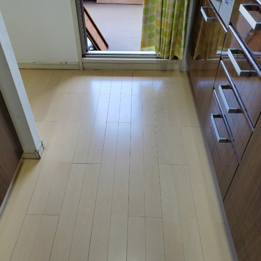 【K様邸 マンション キッチン床復旧工事】の施工後写真(0枚目)