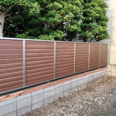 ブロック塀→フェンスの施工後写真(1枚目)