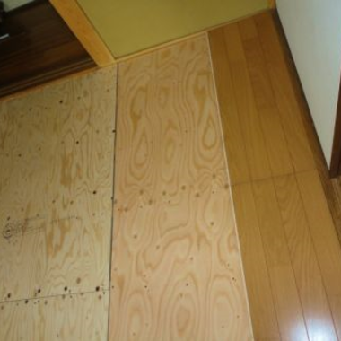 畳の和室の床をフローリングに 6帖2室の施工後写真(0枚目)