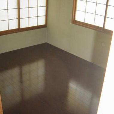 6帖の和室 畳からフローリング工事の施工後写真(1枚目)