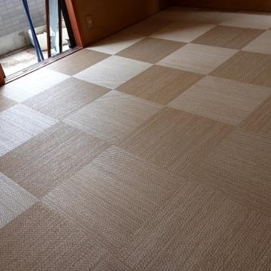 8帖和室 畳からフローリング(フロアタイル)工事の施工後写真(0枚目)