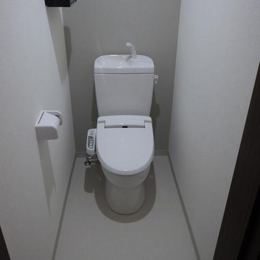 2階のクローゼット、押入をトイレ・洗面所にリノベーションしました。の施工後写真(1枚目)