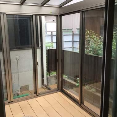 名古屋市北区 サンルーム設置の施工後写真(0枚目)