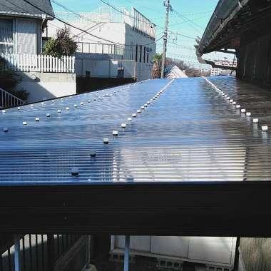 名古屋市緑区 テラス屋根の波板 リフォームの施工後写真(0枚目)