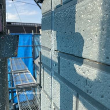 リフォーム他社様が足場材で破損してしまった外壁(サイディング)を補修しました。の施工後写真(0枚目)