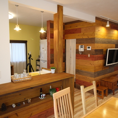 戸建住宅リノベーション 完了 キッチン ダイニング