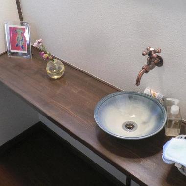 トイレリフォーム 完了 手洗い場