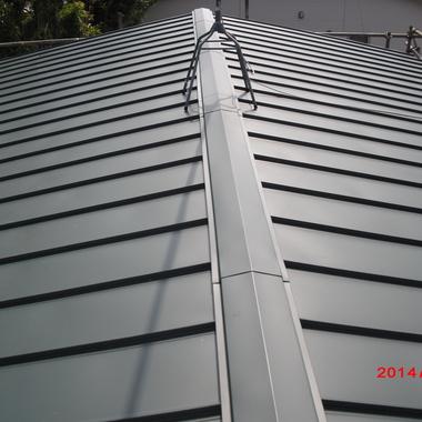 屋根の上葺き 完了