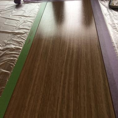 | フローリングの凹み補修 完了