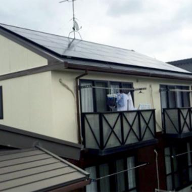アパート太陽光発電システム設置 完了