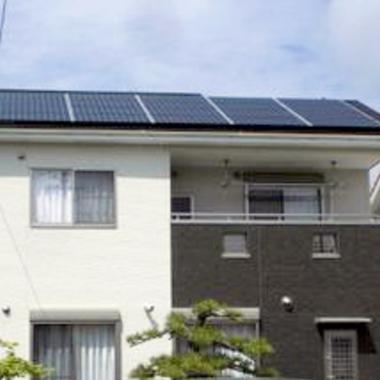 太陽光発電設置 屋根塗装 完了