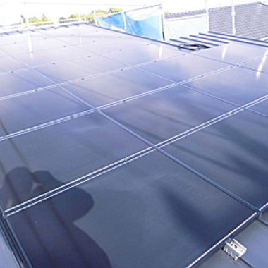 太陽光発電設置 完了 アップ画像