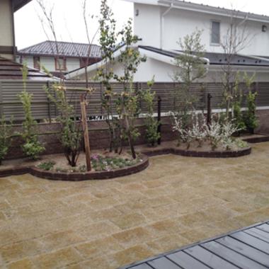 庭のリフォーム 完了