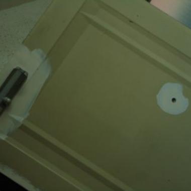 玄関ドア塗装工事前 アップ画像