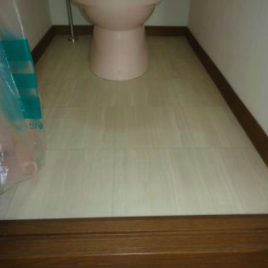 | トイレ クッションフロア貼替工事 完了