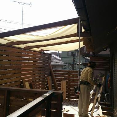 | バルコニー増築工事 途中3