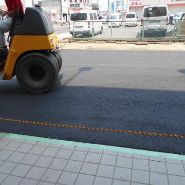 | 駐車場のアスファルト工事 完了