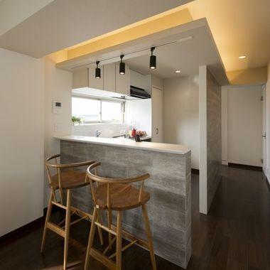 戸建住宅リフォーム完了 キッチンカウンター