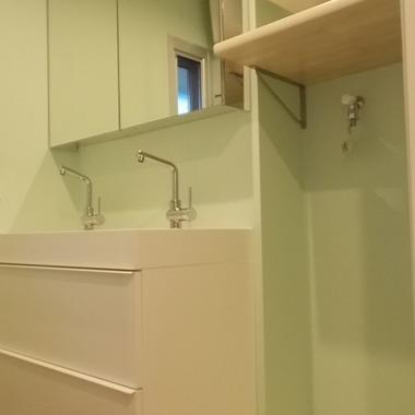 戸建住宅リフォーム完了 洗面所