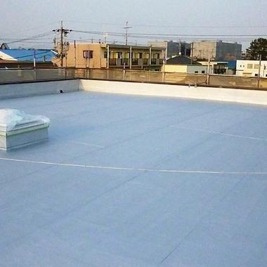 屋上防水塗装 完了