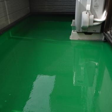 ベランダ塗装 ウレタン塗膜防水 完了