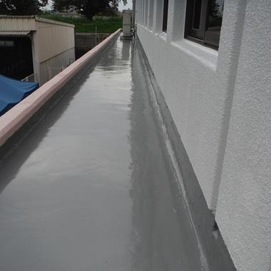 | 庇ウレタン塗膜防水塗装 完了