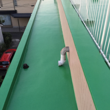 | マンション 屋上防水 完了 別角度