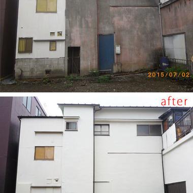 戸建住宅 外壁塗装 前後