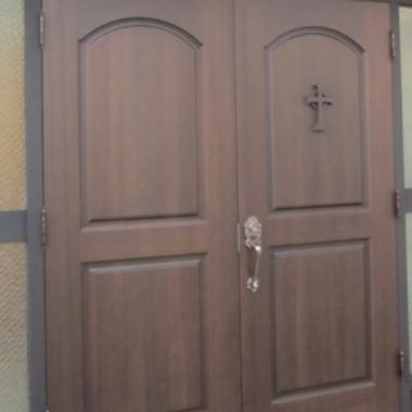 門扉 設置 | 教会 ドア交換 完了