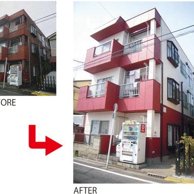 マンション 外壁塗装後